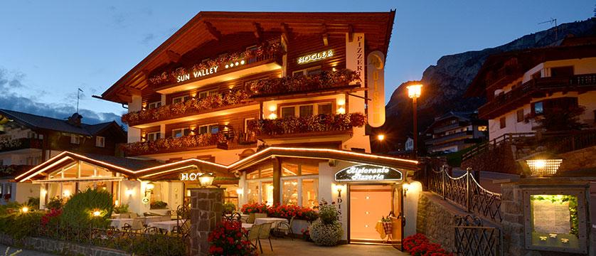Hotel Sun Valley, Selva, Italy - exterior at dusk 2.jpg